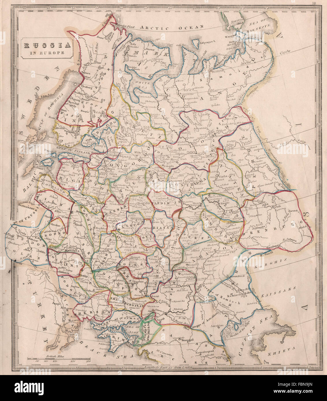 RUSSIA IN EUROPE. Oblasts U0026 Rivers. Kingdom Of Poland. OOC. JOHNSON, 1850  Map