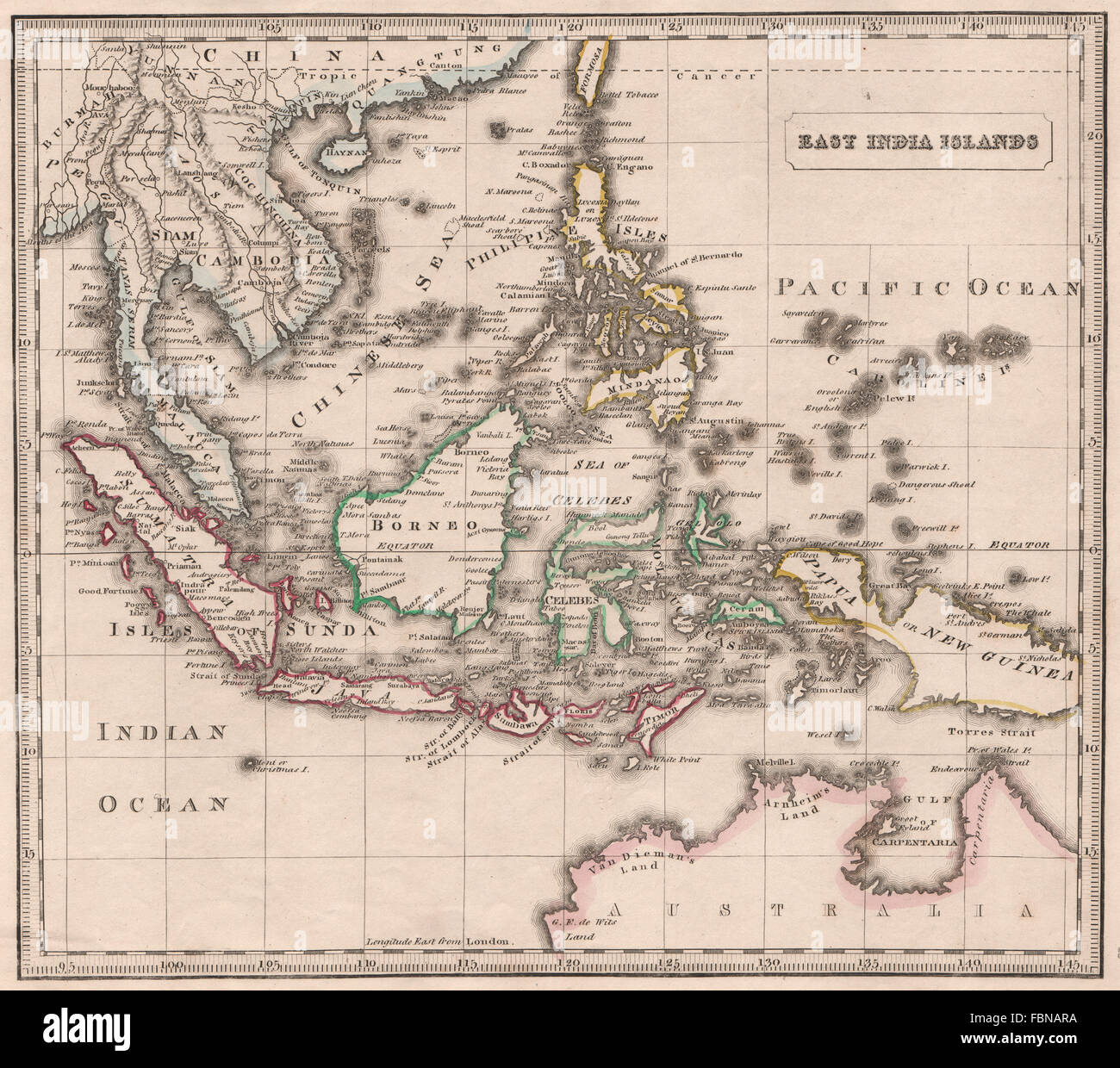 East india islands dutch east indies philippines indochina johnson east india islands dutch east indies philippines indochina johnson 1850 map gumiabroncs Images