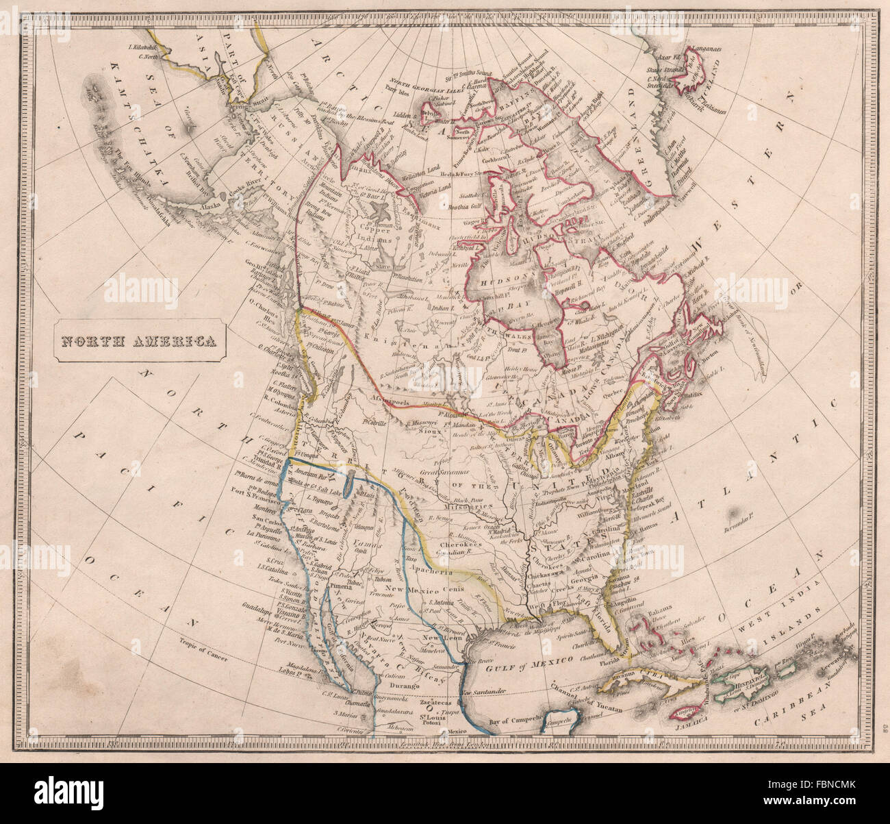 Mexico Map 1850.Johnson Map Of Mexico And Texas Stock Photos Johnson Map Of Mexico