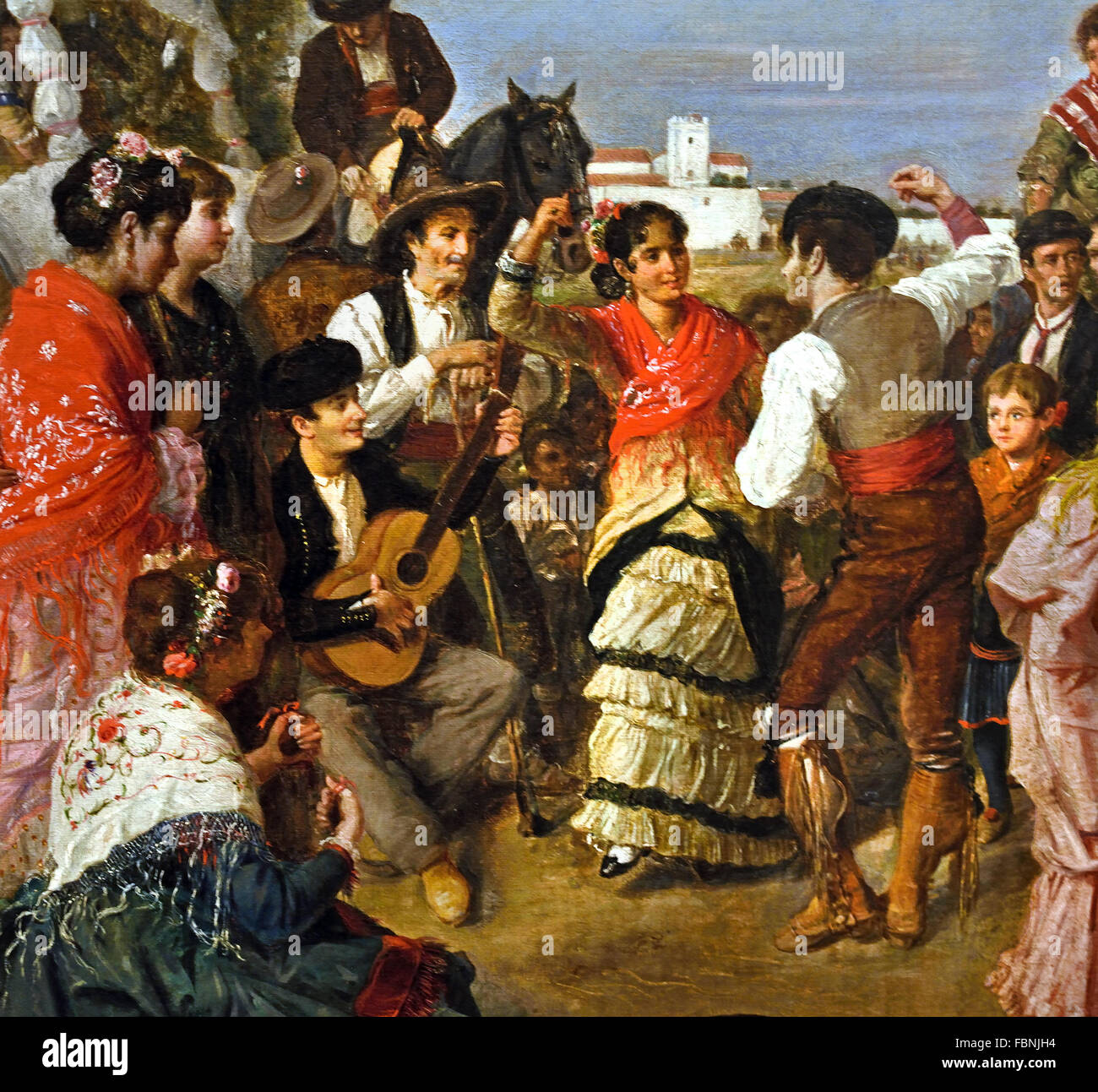 At the Torrijos Pilgrimage 1883 Manuel Cabral Aguado Bejarano Andalusia Spanish Spain - Stock Image