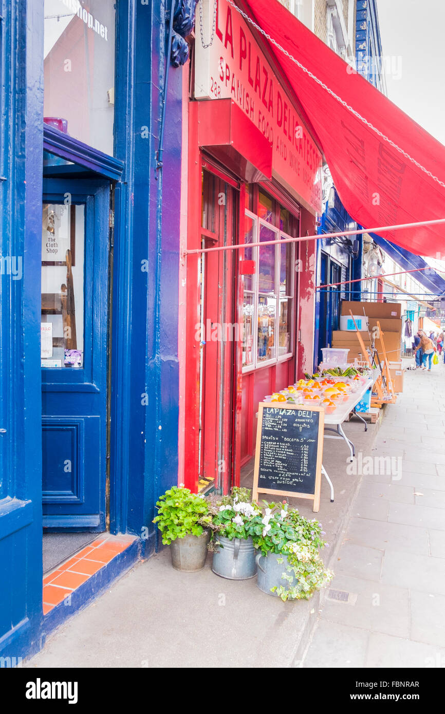 spanish deli la plaza, portobello road, notting hill, london, england - Stock Image