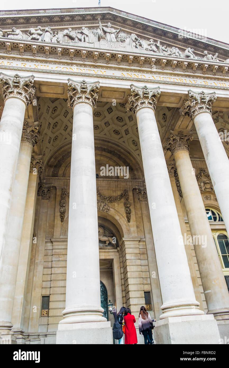 royal exchange, city of london, london, england - Stock Image