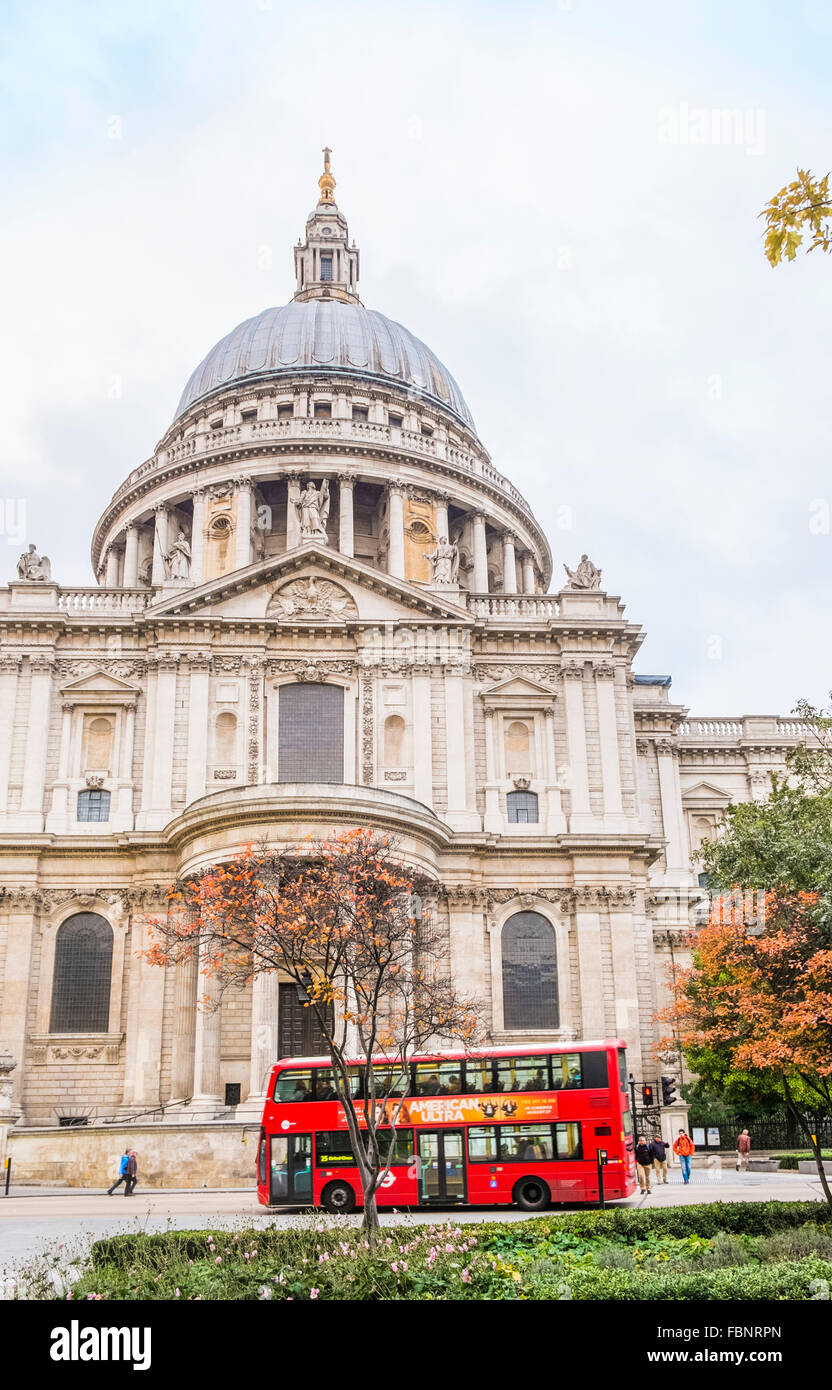 st paul´s cathedral, london, england - Stock Image