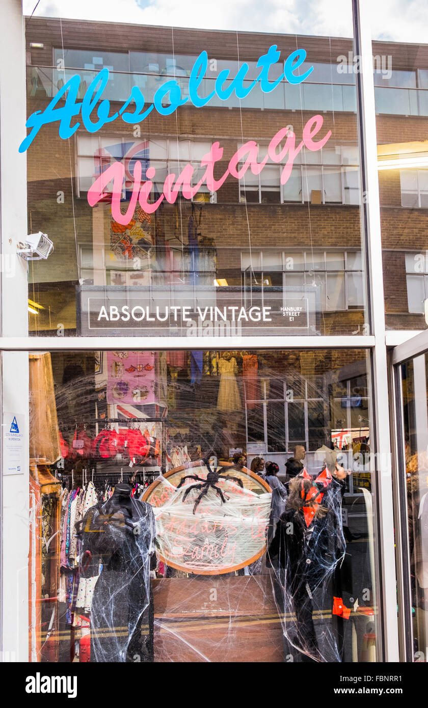 absolute vintage store old truman brewery complex  east end london - Stock Image