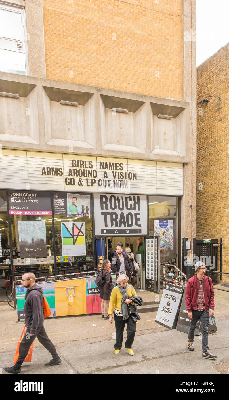rough trade east record store, east end, london Stock Photo