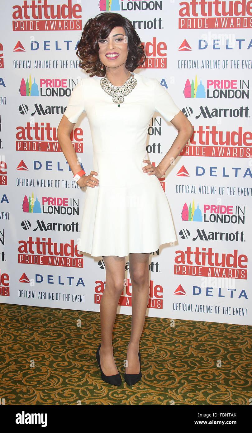 Jun 26, 2015 - London, England, UK - Asifa Lahore attending Inaugural Attitude Pride Awards, honouring members of - Stock Image