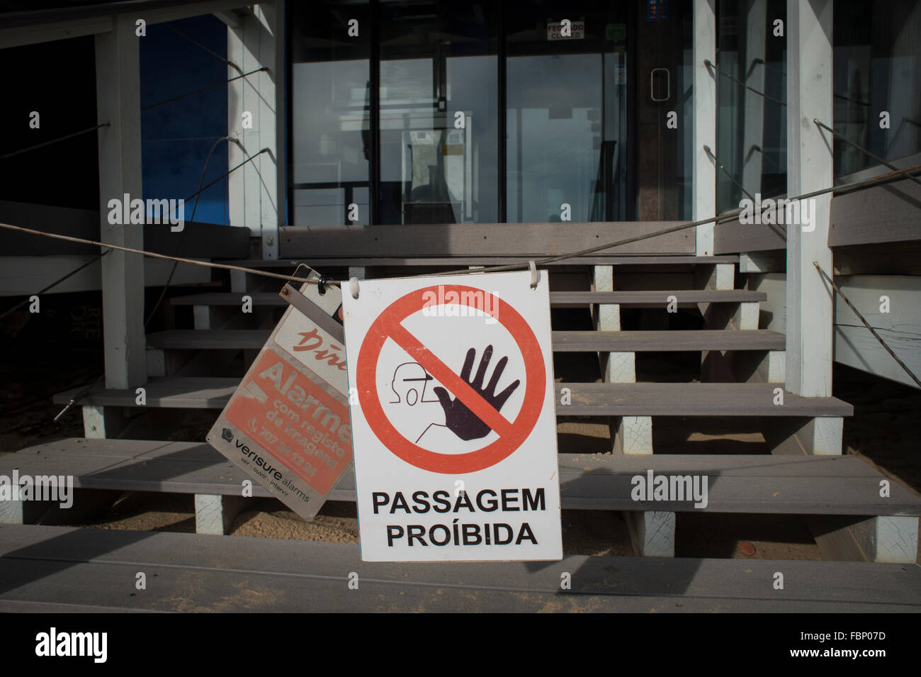 No entry sign in Portugal - Stock Image