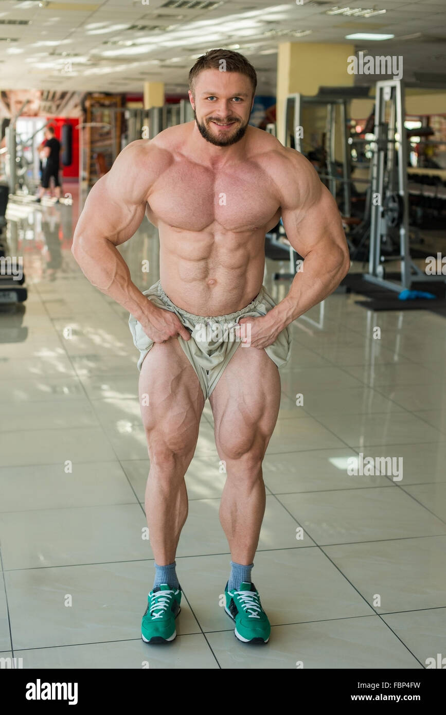 Muscular bodybuilder. - Stock Image
