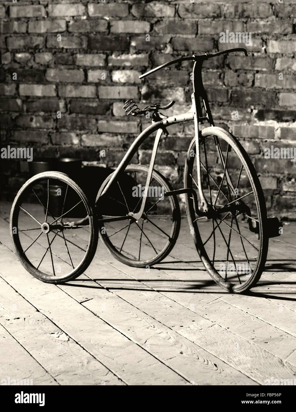 Old-Fashioned Tricycle For Children - Stock Image