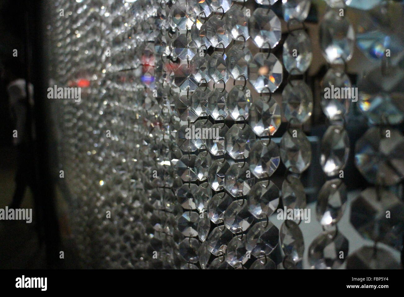 Crystal Curtain - Stock Image
