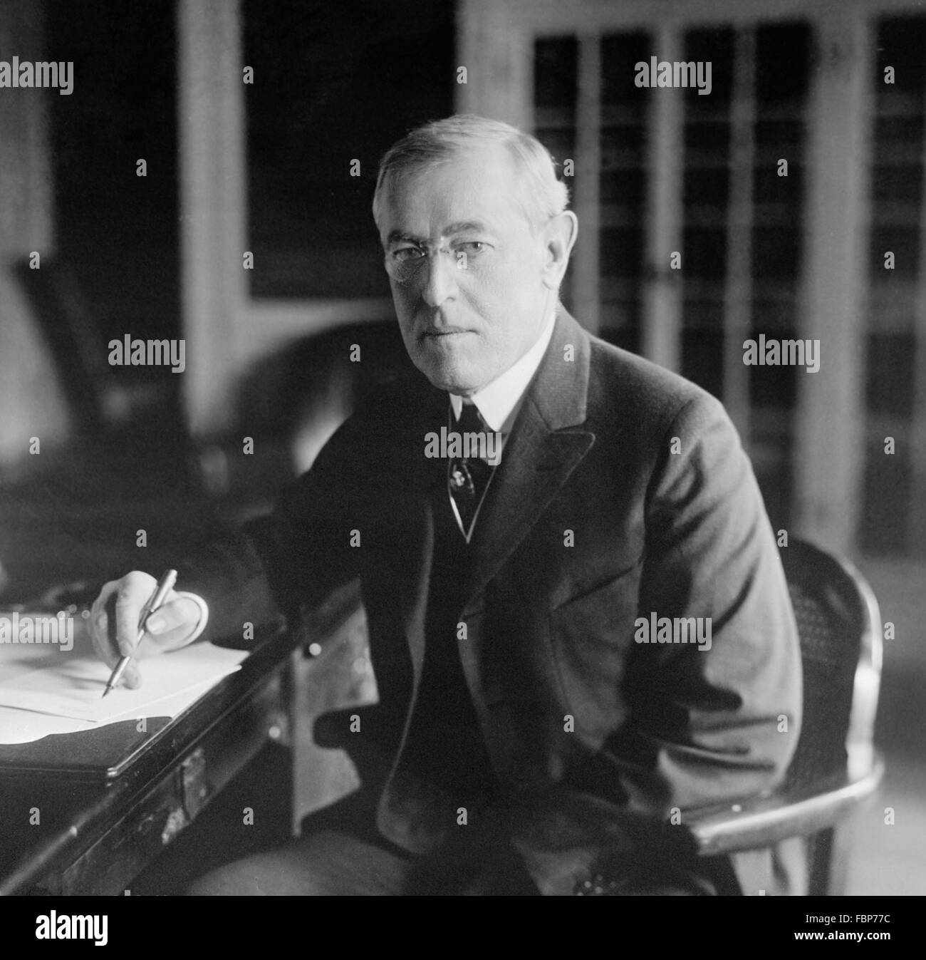 Woodrow Wilson, the 28th President of the USA, taken between 1913 and 1920 - Stock Image