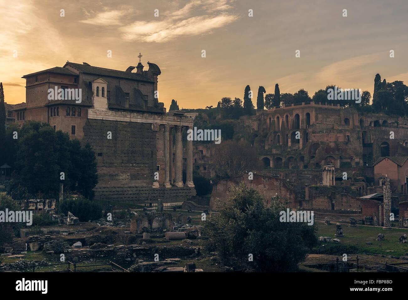 Rome, Italy: The Roman Forum - Stock Image