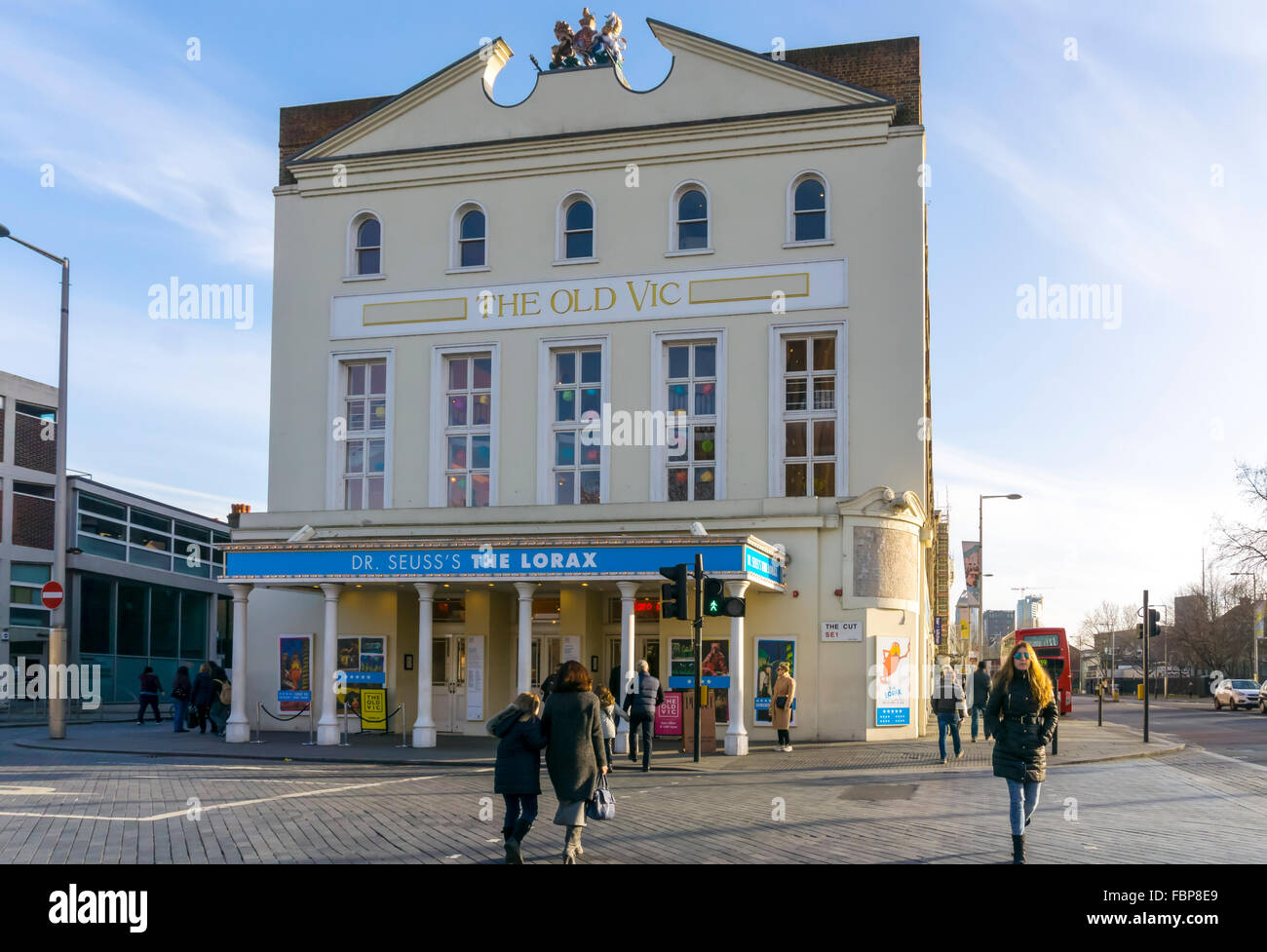 The Old Vic Theatre in The Cut, Waterloo, London. - Stock Image
