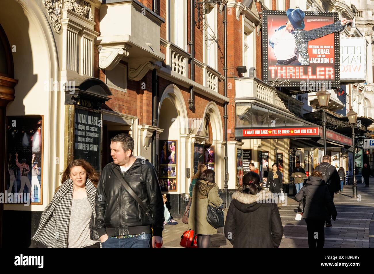 The Lyric Theatre at West End on Shaftesbury Avenue, London England United Kingdom UK - Stock Image