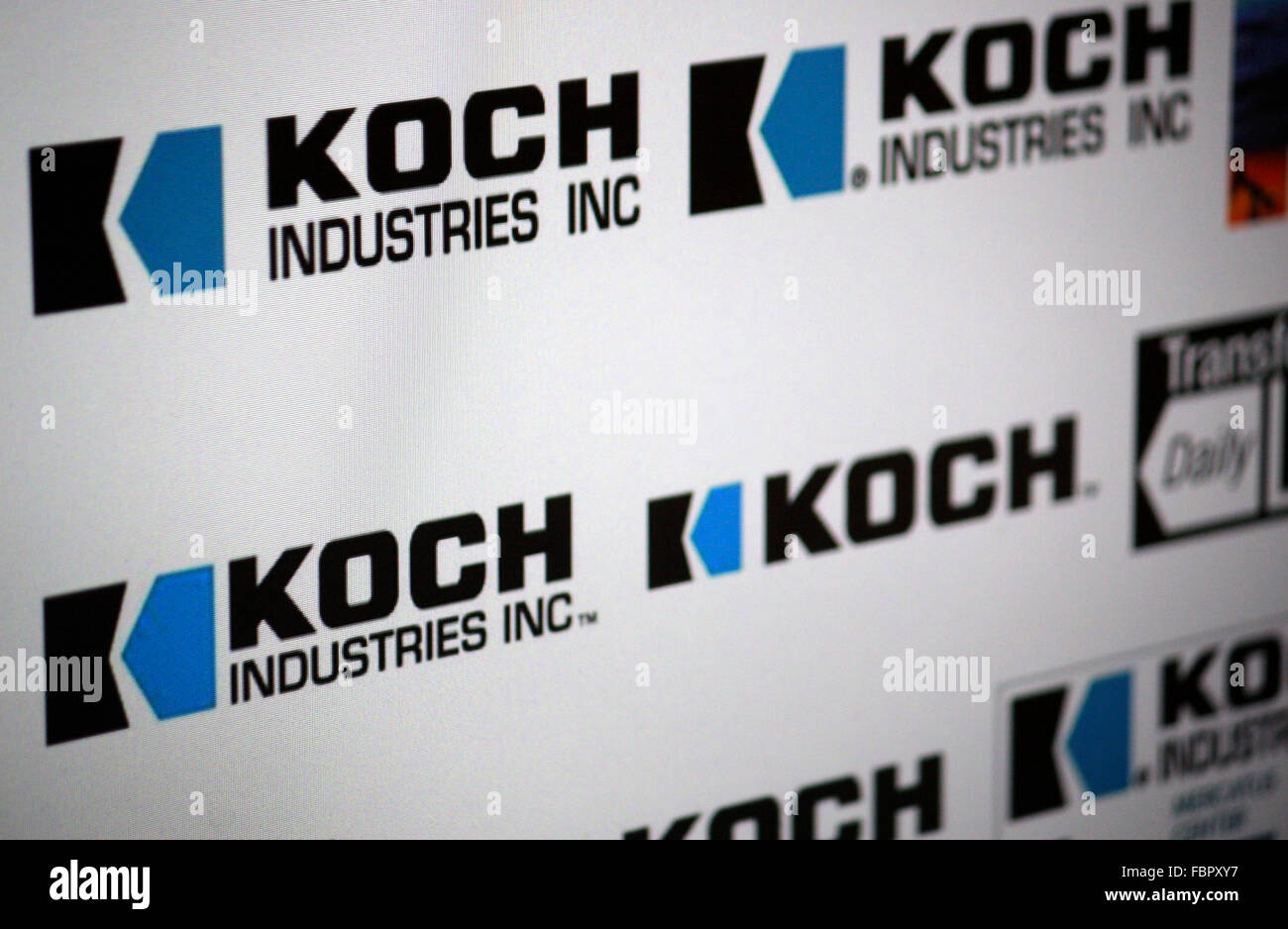 Markenname: 'Koch Industries'. - Stock Image