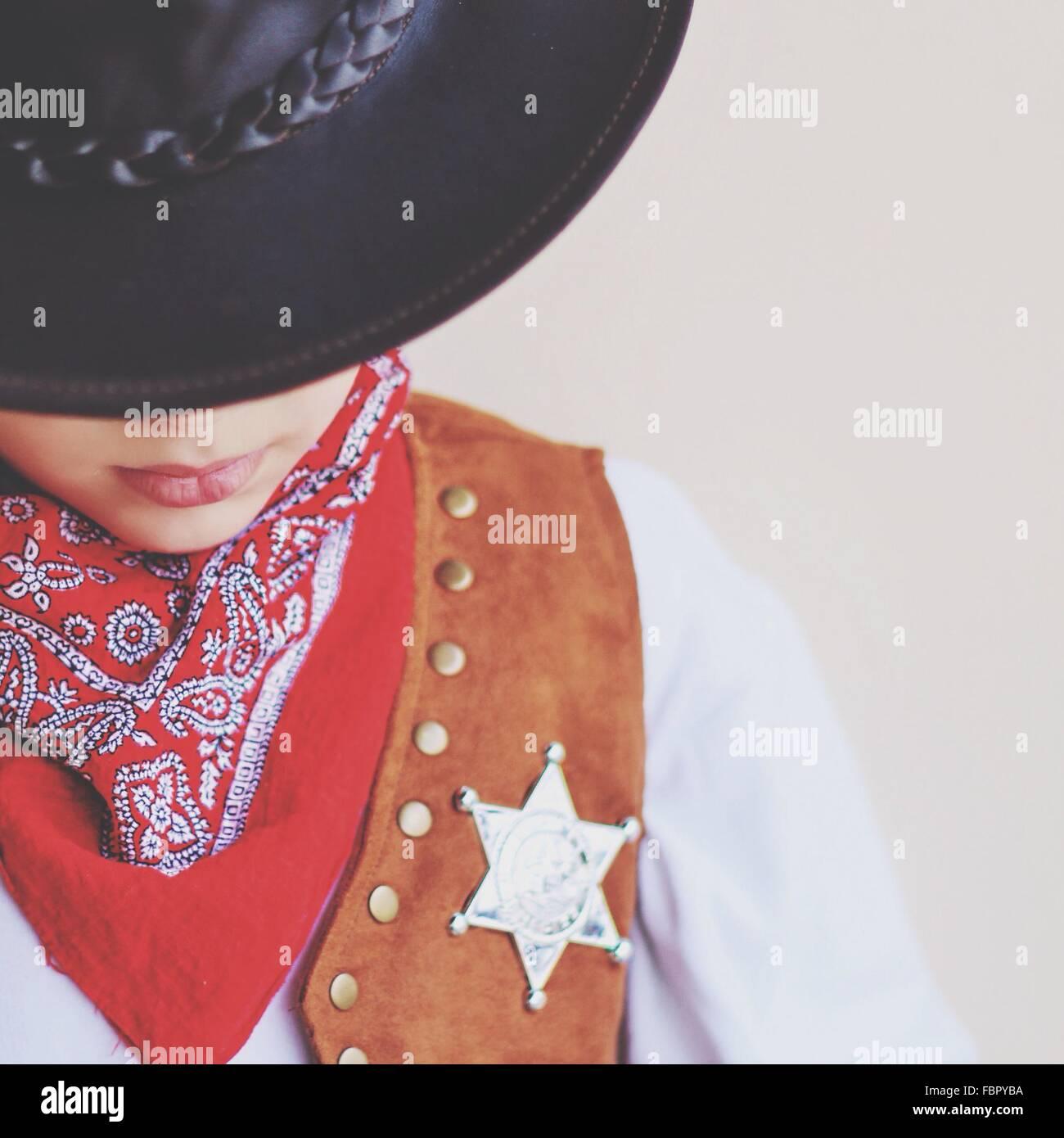 Close-Up Of Cowboy - Stock Image