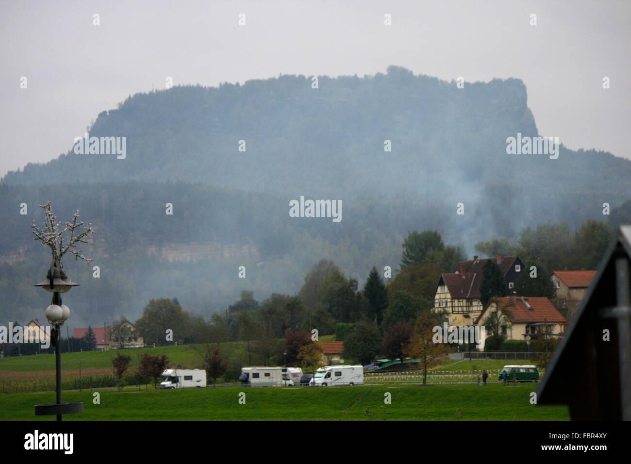 Lilienstein - Saechsische Schweiz. - Stock Image