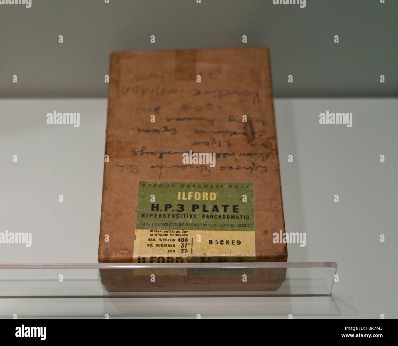 Vintage Ilford HP3  glass plate box - Stock Image