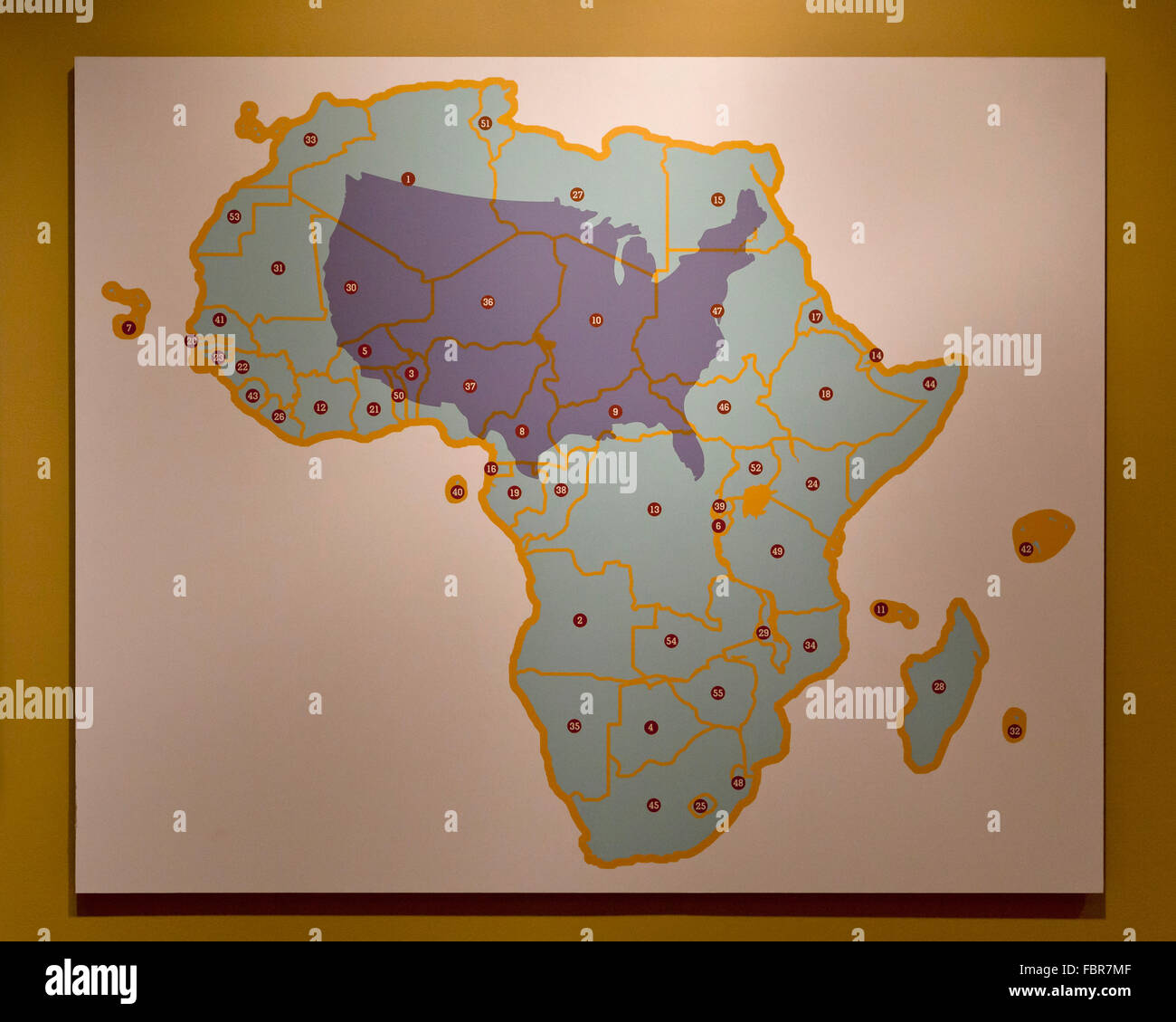 Us and africa true size comparison map stock photo 93324015 alamy us and africa true size comparison map gumiabroncs Images