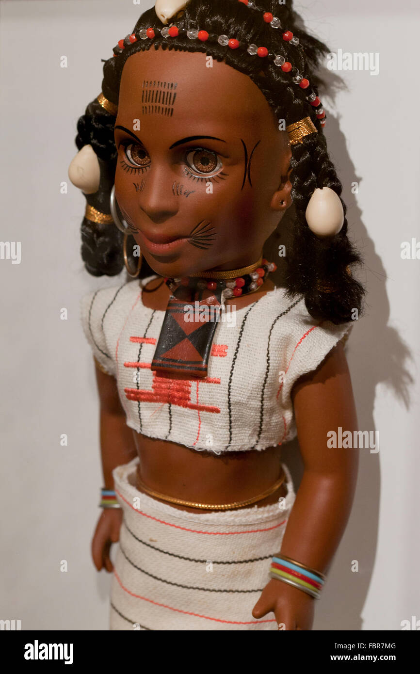 Traditional female African doll - Stock Image