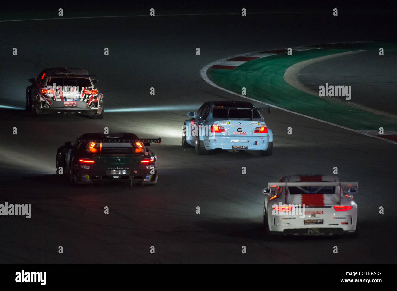 A Mix Of Different Car Types On The Track During The Night Section Of The  Hankook