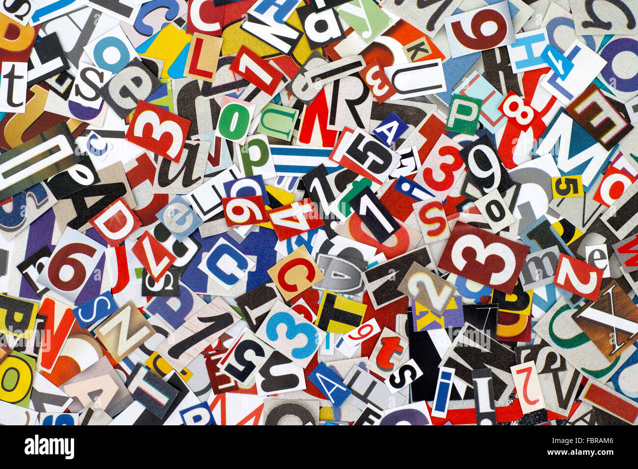 Heap of cutout letters and numbers from newspapers and magazines heap of cutout letters and numbers from newspapers and magazines spiritdancerdesigns Choice Image