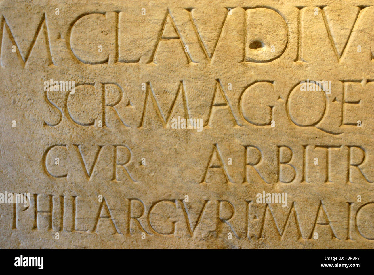 Ancient latin writings carved in stone museum nazionale romano
