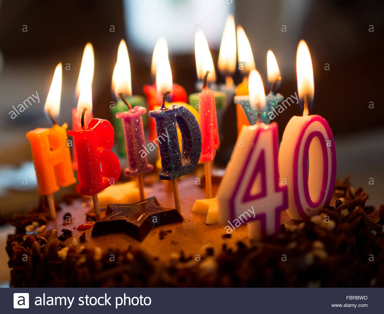 40th Birthday Cake Stock Photos 40th Birthday Cake Stock Images