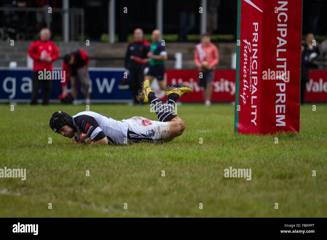 Wales, United Kingdom. October 10 2015. Pontypridd RFC play Aberavon RFC during their Principality Premiership match - Stock Image