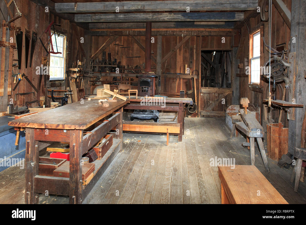 Woodworking Shop With Tools Stock Photo 93335898 Alamy