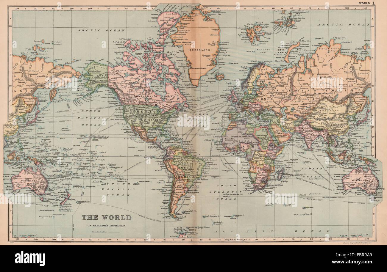 20th Century World Map Stock Photos & 20th Century World Map Stock