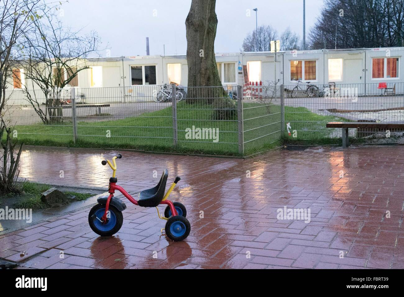 residential containers in a refugee camp in Bochum, 15.11.2015, - Stock Image