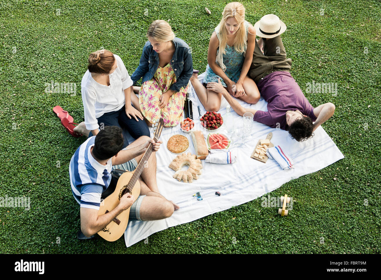58852c1dd16d Summer picnic in the park with friends Stock Photo  93337040 - Alamy