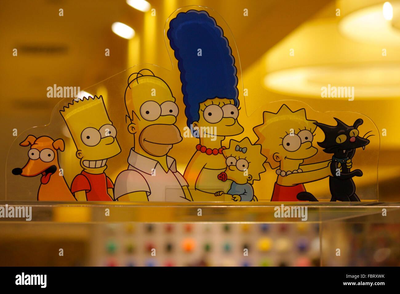 die Comicfiguren der 'Simpsons':  Berlin. - Stock Image