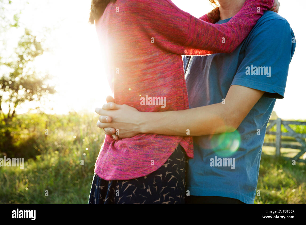 Couple embracing - Stock Image