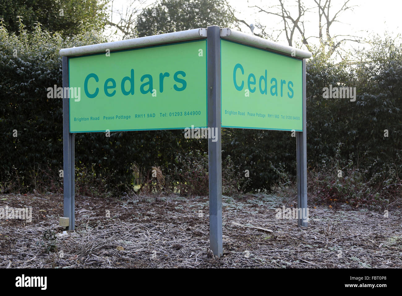 Cedars Immigration removal centre Gatwick West Sussex a23 - Stock Image