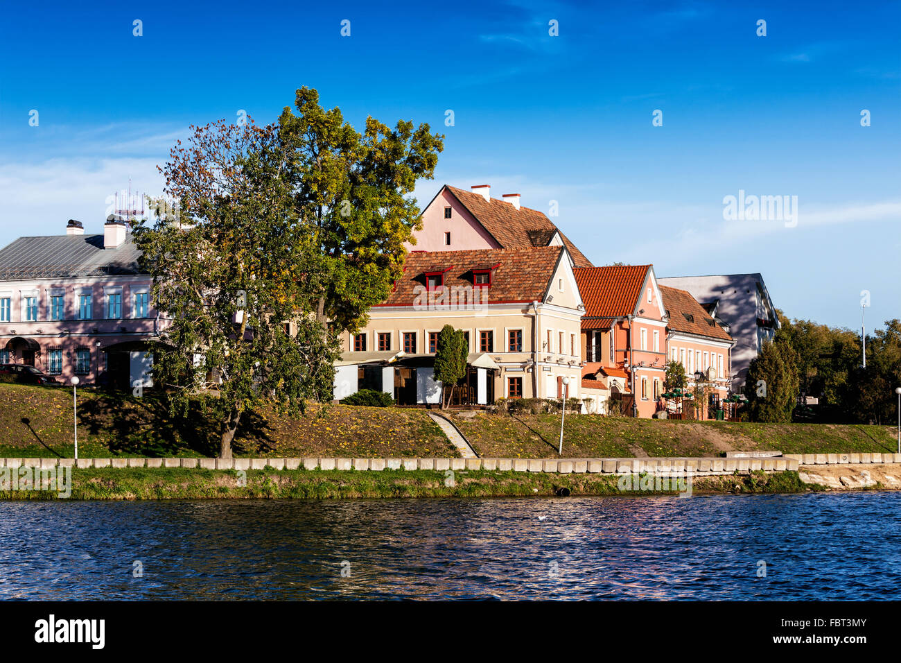 Trinity Suburb medieval part of Minsk - Stock Image