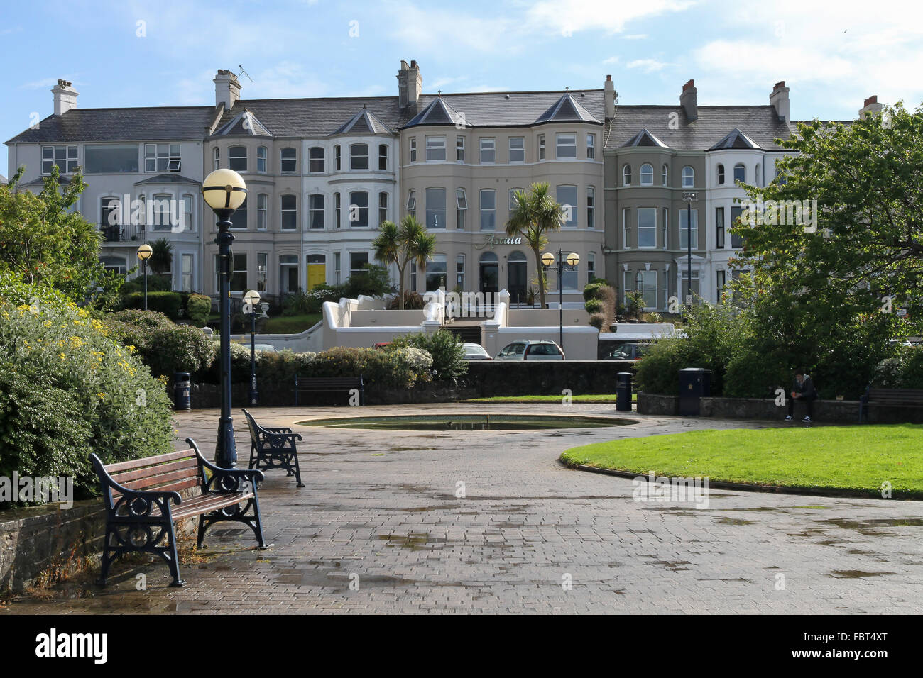 Seafront houses in Bangor, Co Down. - Stock Image