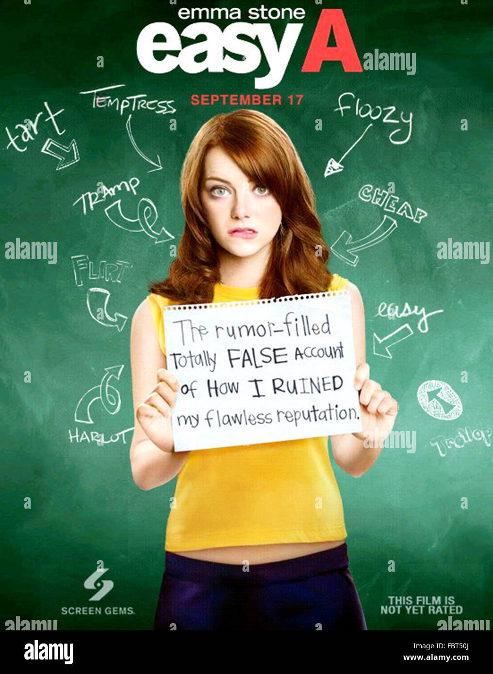 EASY A (2010)  EMMA STONE  WILL GLUCK (DIR)  MOVIESTORE COLLECTION LTD - Stock Image