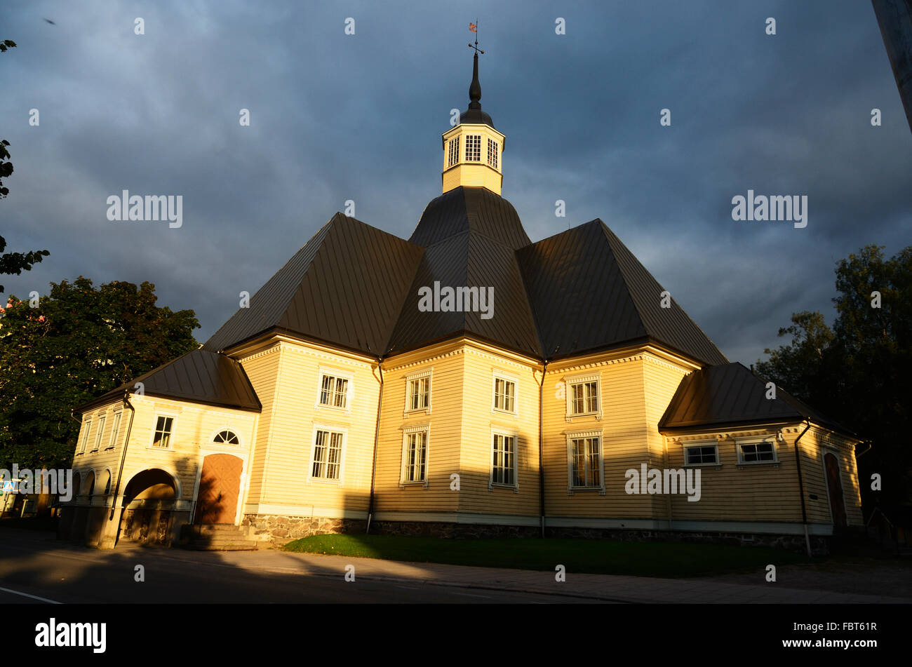 Consecrated in June 1794, St. Mary's  Church of Lappee is one of the oldest in Lappeenranta. South Karelia. - Stock Image