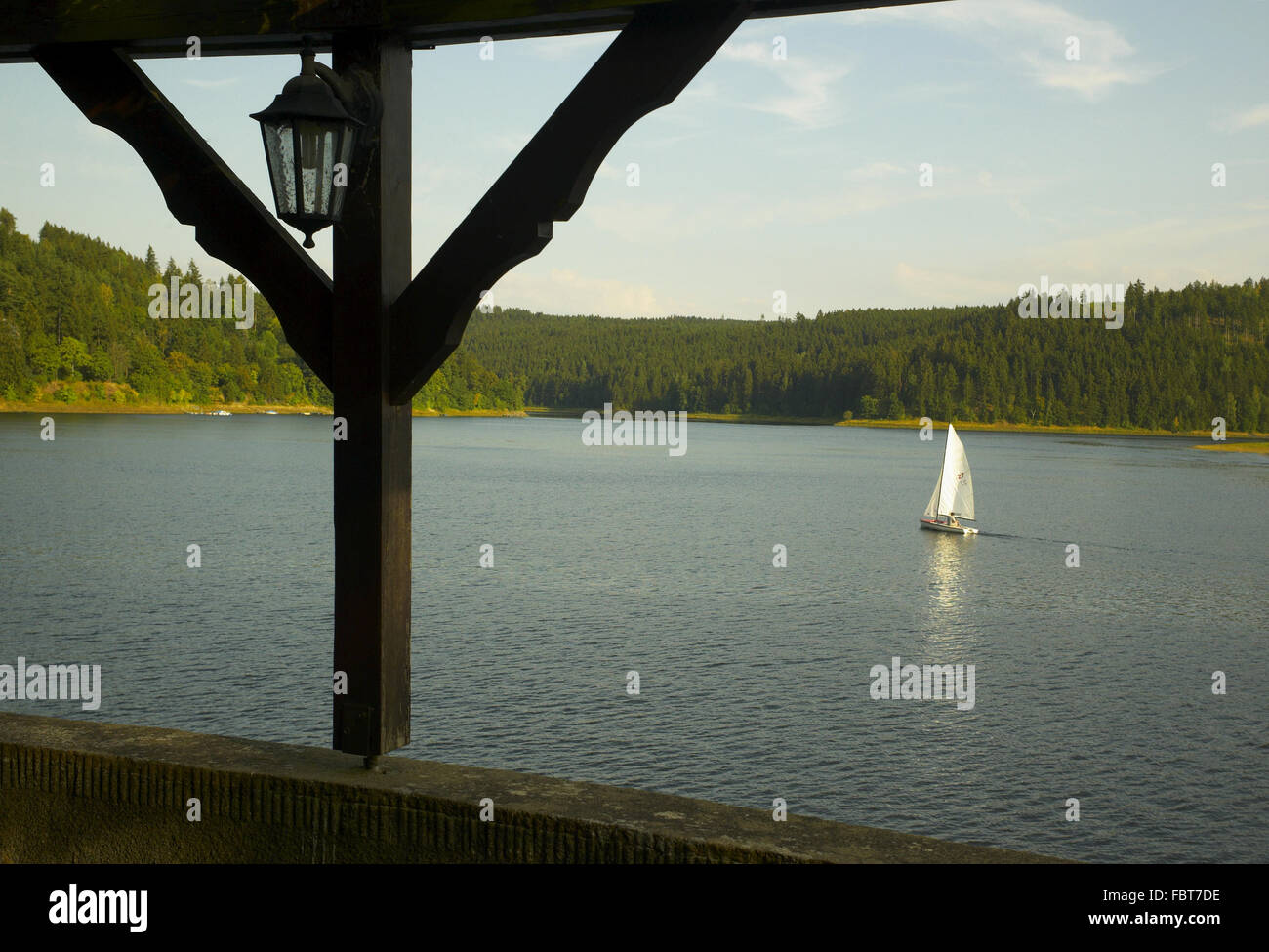 View on the Bleiloch dam - Stock Image