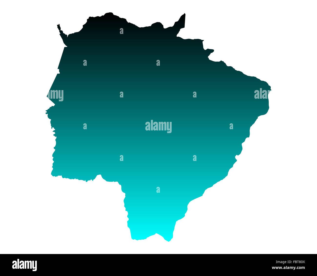 Map of Mato Grosso do Sul Stock Photo