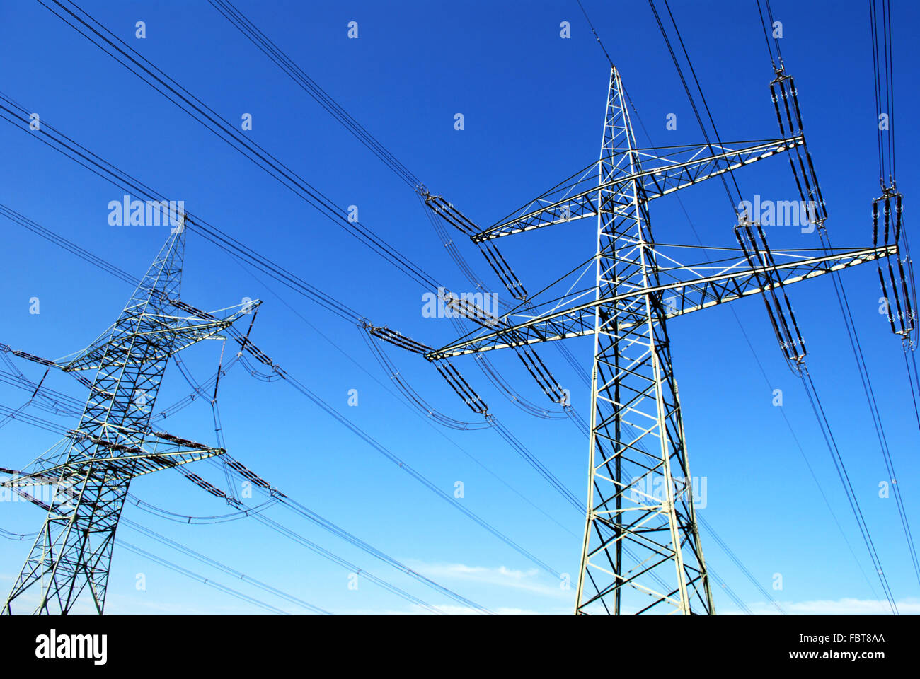 two pylons - Stock Image