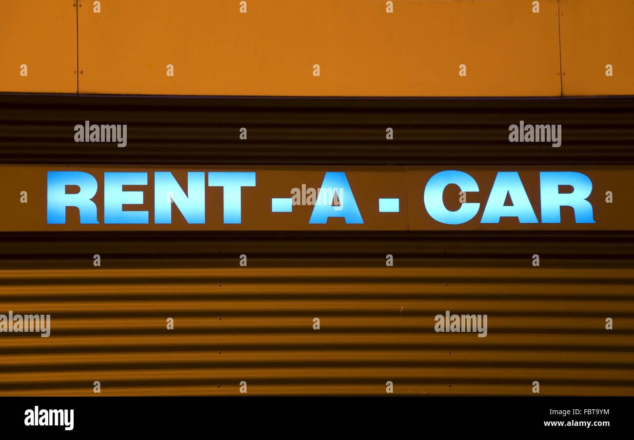 rental car sign - Stock Image