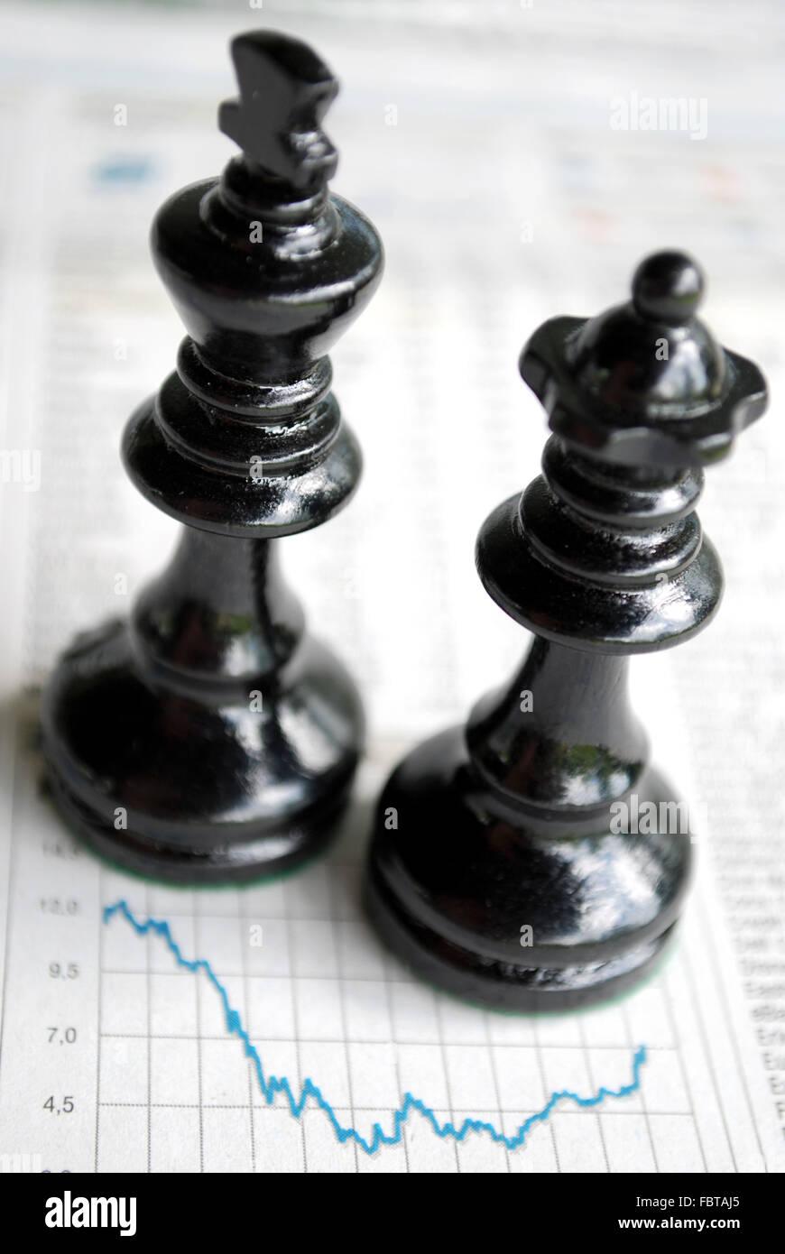 chessmen  quotation - Stock Image