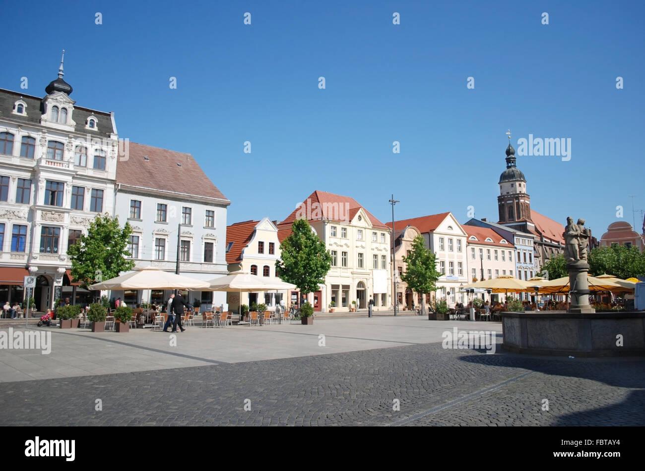 cottbus altmarkt - Stock Image