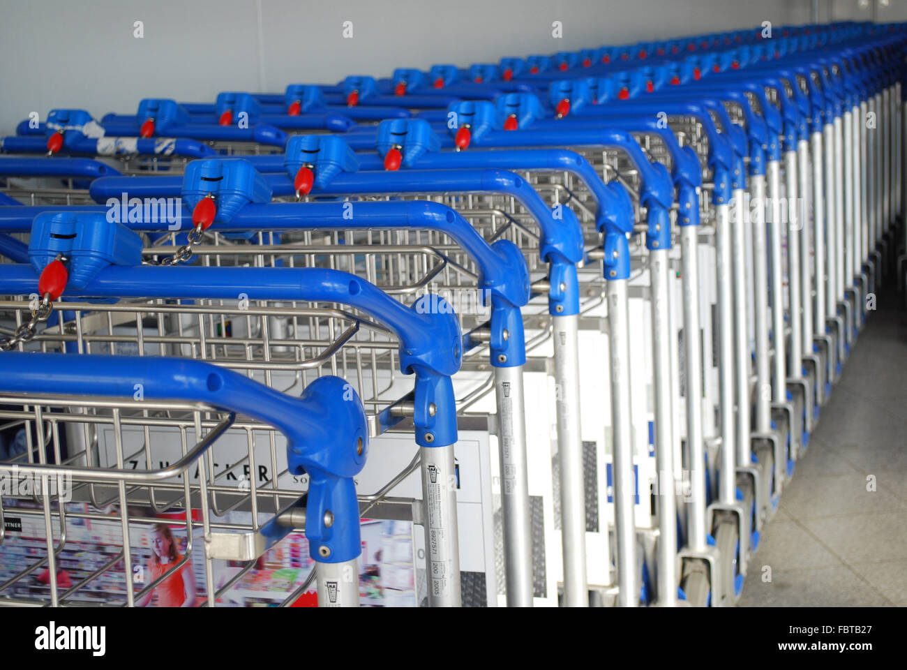 baggage trolleys - Stock Image