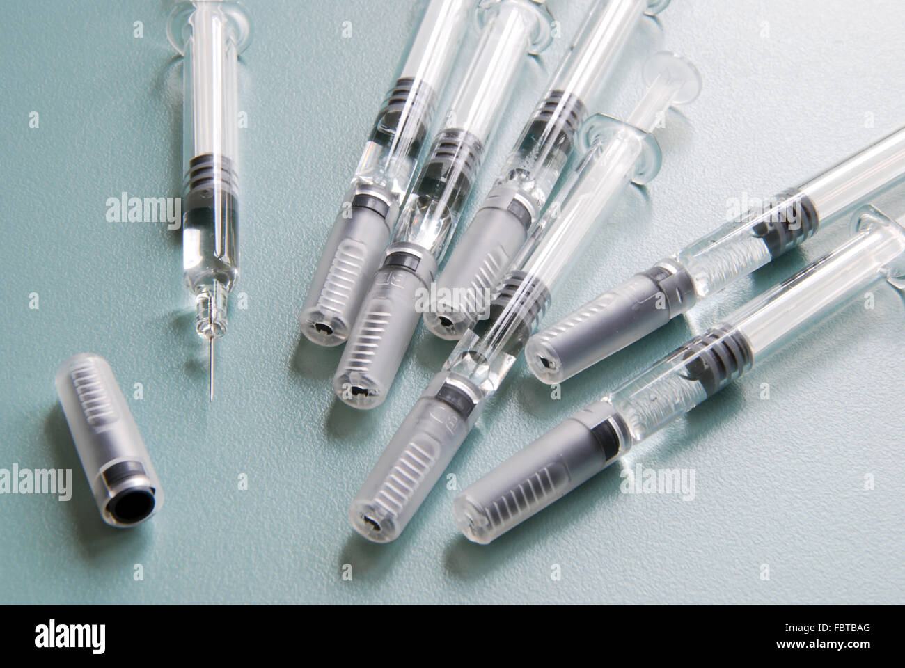 syringes vaccination Stock Photo