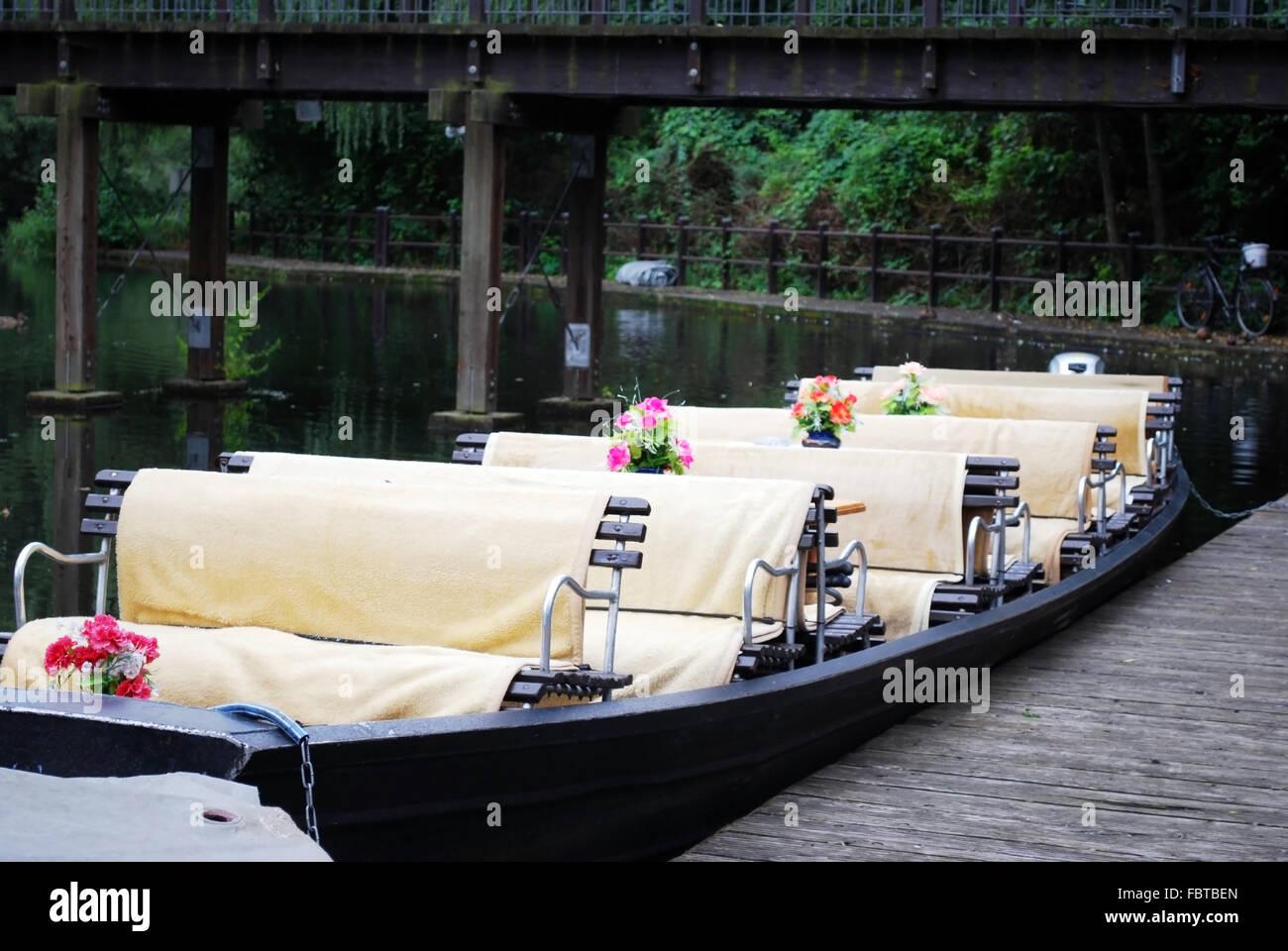 spreewald boat - Stock Image