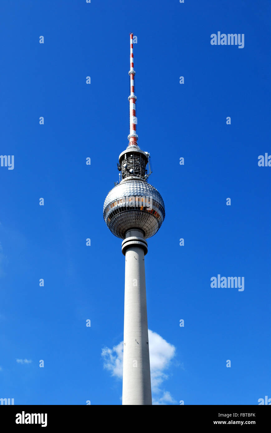 berlin alexanderplatz with ty tower - Stock Image
